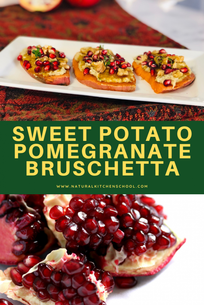 Sweet Potato Pomegranate Bruschetta