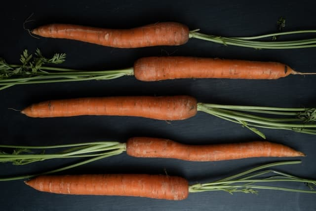 Carrots on a dark abckground