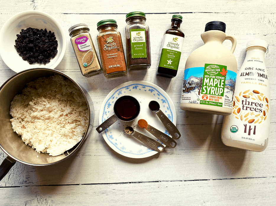 rice pudding ingredients